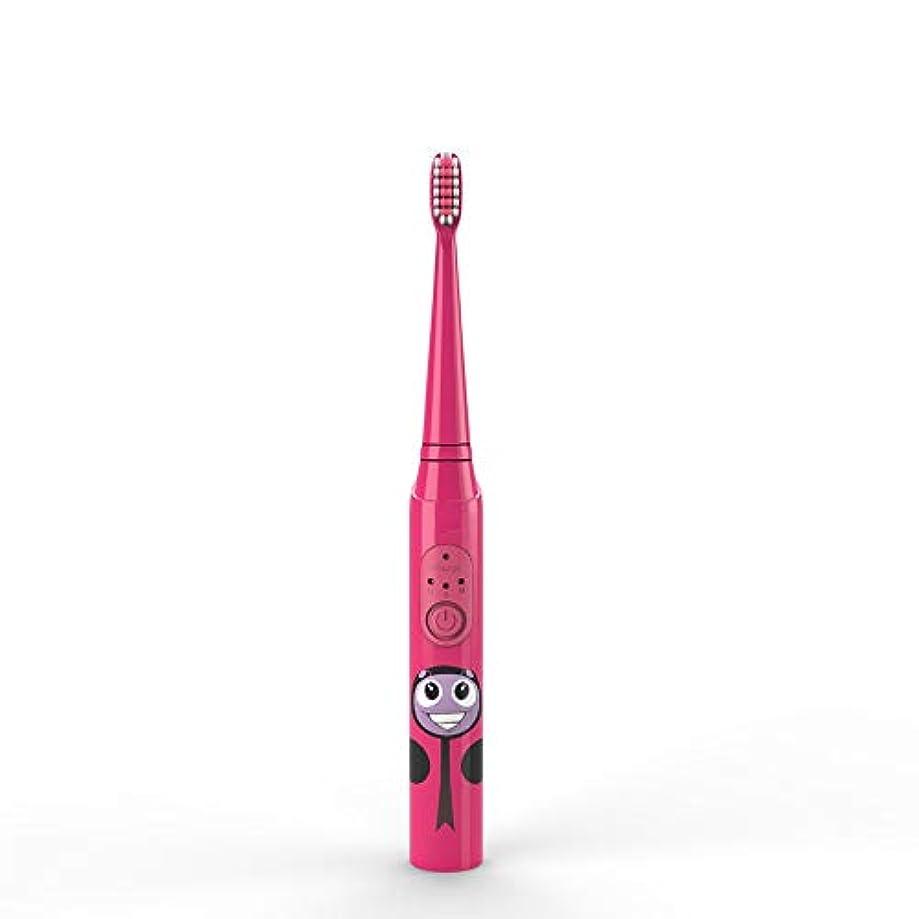 中止します剃る狂乱電動歯ブラシ 子供の電動歯ブラシUSB充電式保護清潔で柔らかい毛の歯ブラシ日常の使用 大人と子供向け (色 : 赤, サイズ : Free size)