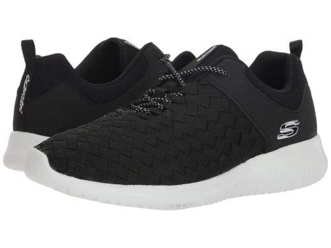 流暢交差点抵抗するSKECHERS(スケッチャーズ) レディース 女性用 シューズ 靴 スニーカー 運動靴 Ultra Flex - Weave Away - Black/White [並行輸入品]