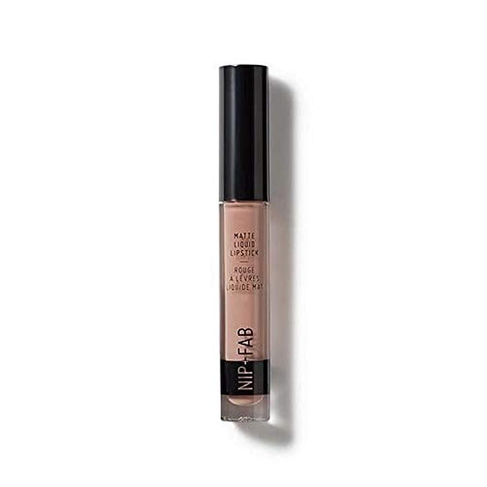 はっきりしないライターグラフィック[Nip & Fab ] クールなヌード15マット液状口紅2.6ミリリットルを作るFab +ニップ - NIP+FAB Make Up Matte Liquid Lipstick 2.6ml Cool Nude 15 [...