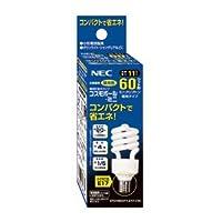 NEC(エヌイーシー) 電球形蛍光ランプD形60W昼光色(E17) EFD15ED11E17C3C
