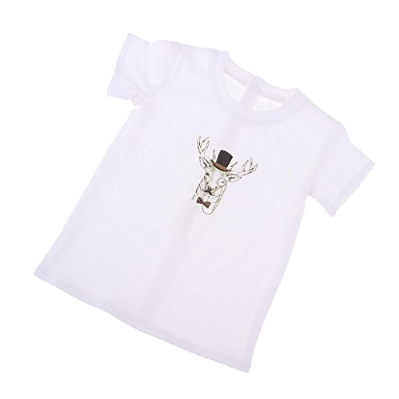 B Blesiya 3スタイル選択 ドール服 Tシャツ ジーンズパンツ パーカージャケット 1/3 BJD SD人形ドール 70cmアンクルドール用 - Tシャツ