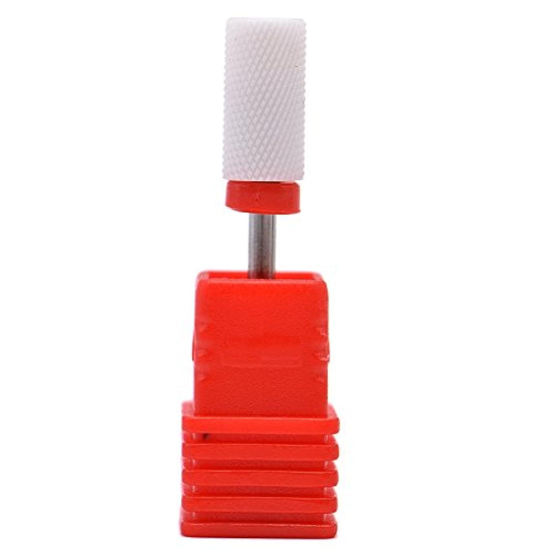 湿った雇ったペフOral Dentistry ネイルアート ドリルビット 研削ヘッド 研磨ヘッド ネイル グラインド ヘッド 爪 磨き 研磨 研削 セラミック 全3色 (レッドF(微研削))