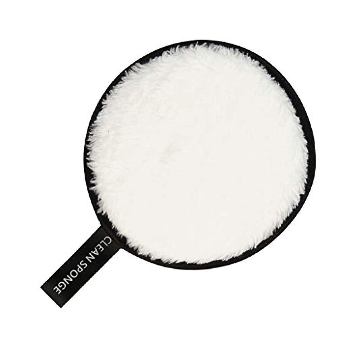トロイの木馬火山の割り込みF Fityle フェイススポンジ クリーニングパフ 再利用可能 化粧落としパッド 全6色 - 白