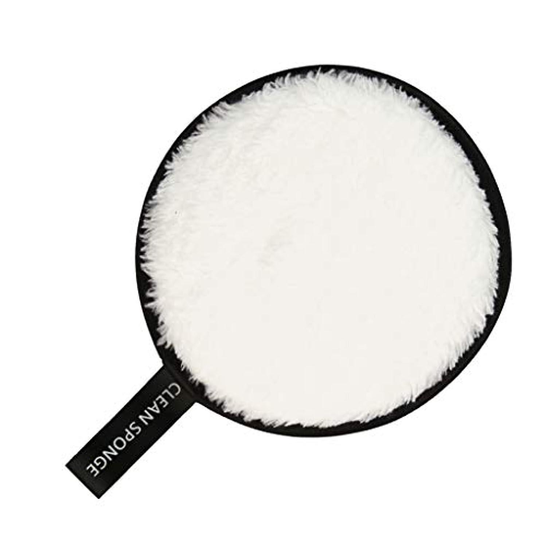 役立つストライク回るF Fityle フェイススポンジ クリーニングパフ 再利用可能 化粧落としパッド 全6色 - 白
