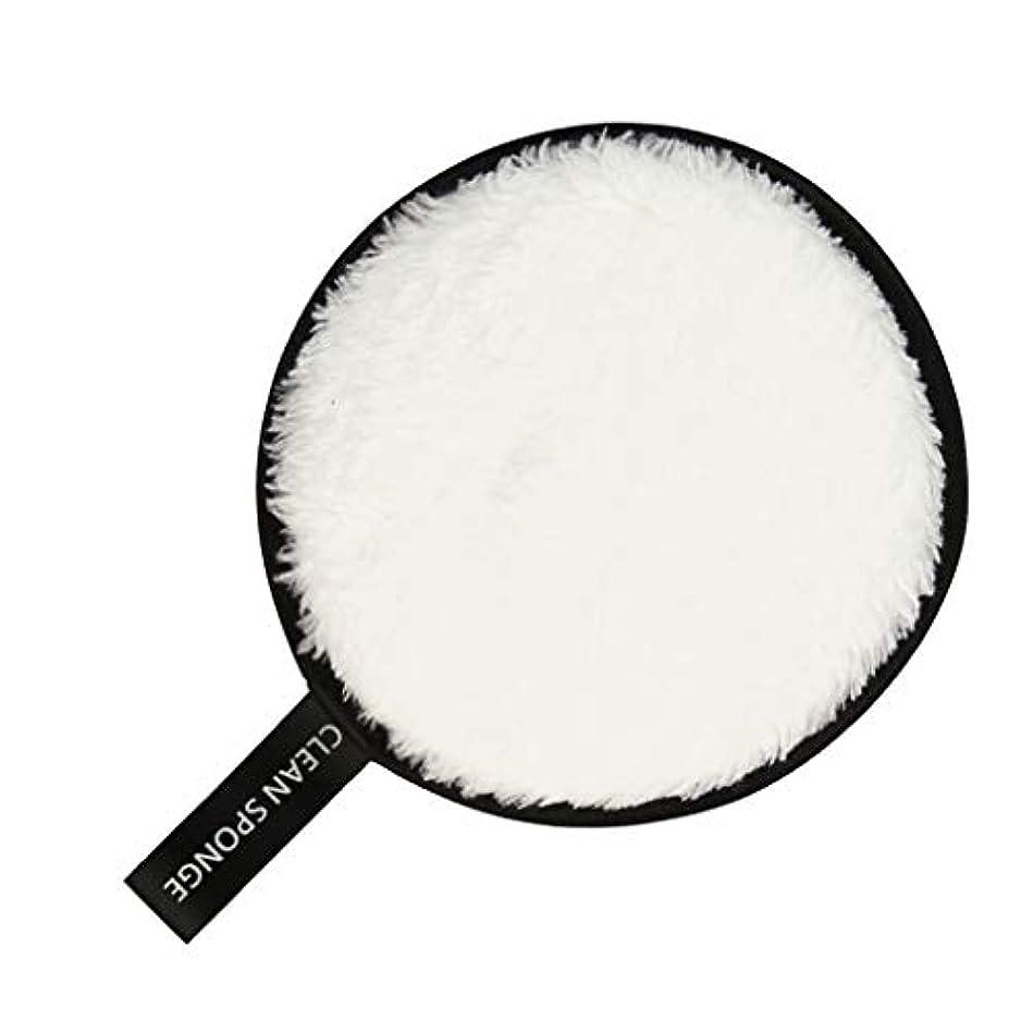 受け入れ伝統的舞い上がるフェイススポンジ クリーニングパフ 再利用可能 化粧落としパッド 全6色 - 白