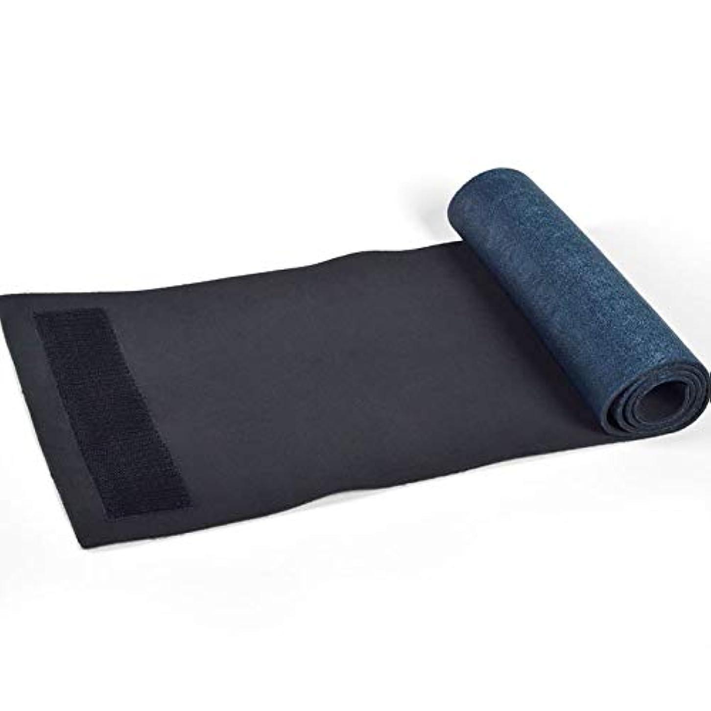 ベッドを作るモックコンプライアンススポーツベルトウエストヨガフィットネスウエストSBRウォームボディベルトスポーツベルト - ブラック