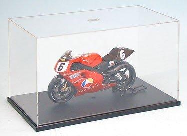 タミヤ ディスプレイグッズシリーズ No.05 ディスプレイケースD 1/12バイクモデル対応 プラスチック製 (PS台座) W240×D130×H140mm (内寸) 73005 ディスプレイケース