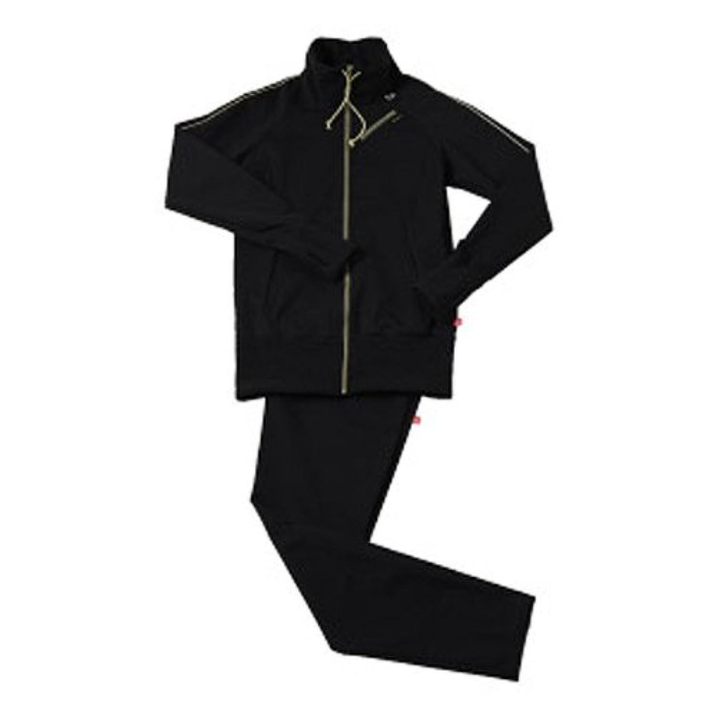 ロッカー女優アーネストシャクルトン30'upDIET(サーティアップダイエット) シェイプスーツ サーモゲティア マルチポケット レディス トラックトップ ブラック×ゴールド