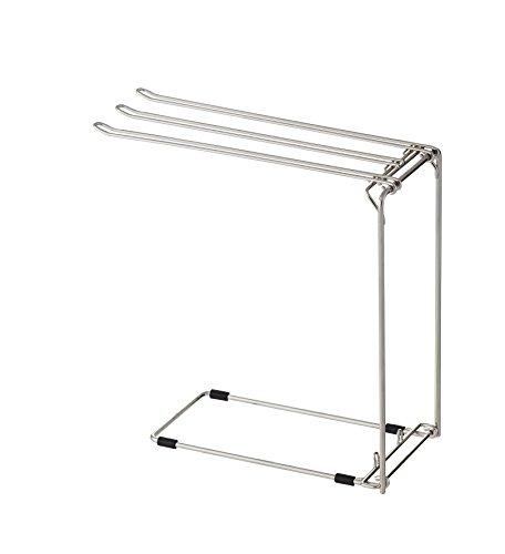 """[해외]아스벨 스테인레스 행주 걸이 스탠드 """"S 뽀제 `2620/Asbestos stainless steel clamp stand """"S Pose"""" 2620"""