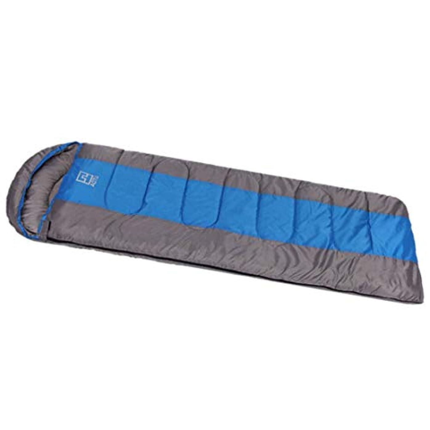 マイクロプロセッサ敬意を表してジョガーCUBCBIIS キャンプ用スリーピングバッグ - エンベロープ軽量ポータブル防水コンフォート - 2つの季節に最適ハイキングアウトドアアクティビティ (Color : ブルー)