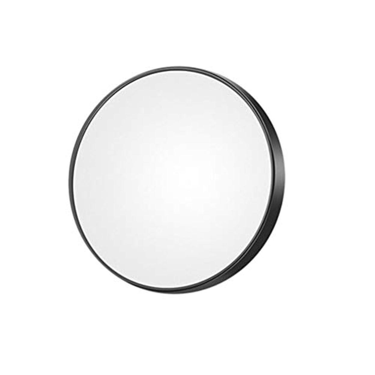 ちょうつがい粒子Lurrose 10倍拡大鏡コンパクト小型丸型吸引カップミラー8.8cm(ブラック)