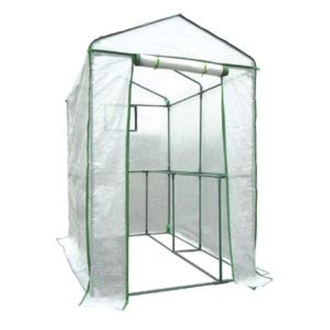汚物比べるチャールズキージング家庭用ビニールハウス(簡易温室) 「グリーンジャンボ」 ファスナー式 メッシュ窓付き 高さ190cm