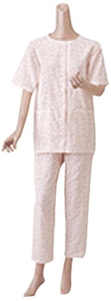 苛性忠実に後者婦人楽らくガーゼパジャマ上下セット(半袖) No.900 M ローズ
