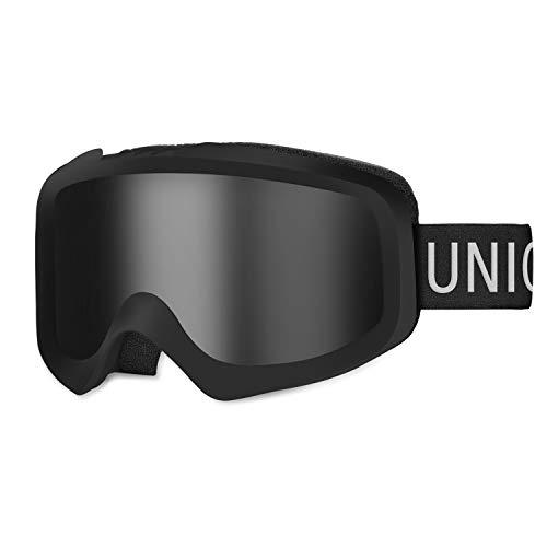Unigear スキーゴーグル ダブルレンズ 曇り止め スキー ゴーグル スノーボードゴーグル 100%UVカット フィ...