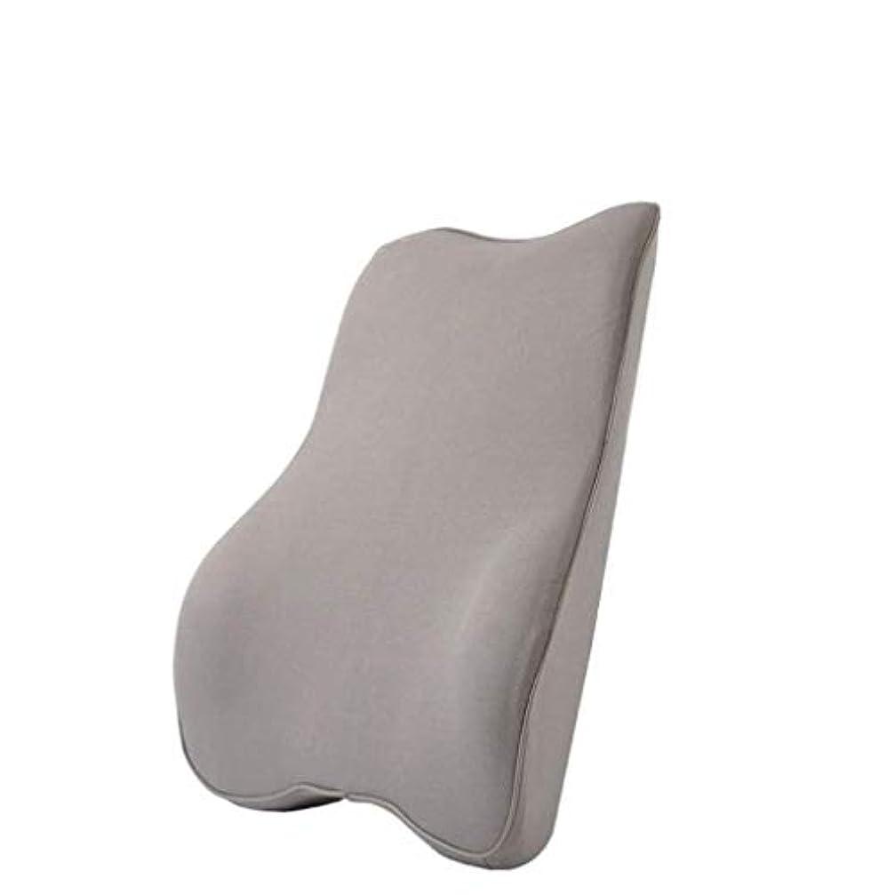 スロー影響する繰り返した枕および腰椎サポート記憶枕は旅行総本店のカー?シートのために適した背中の背中の痛みを和らげるのを助けます (Color : Gray)