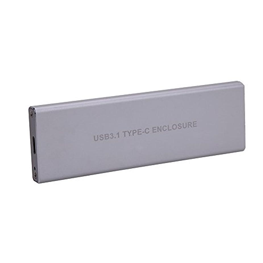 想像するファーザーファージュマーカーwinnereco USB 3.1タイプC to NGFF M。2 B Key SSDコンバータカード外部エンクロージャ( 5gbps – ブラック