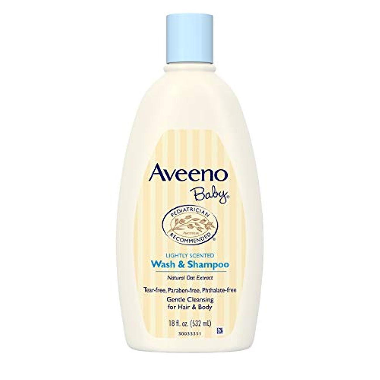 説明的スカルク活性化Aveeno Baby Wash & Shampoo 18 oz.