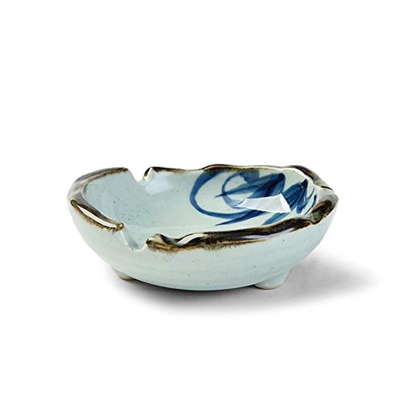 リズミカルな過言スペイン語タバコ、ギフトおよび総本店の装飾のための灰皿円形の光沢のあるセラミック灰皿