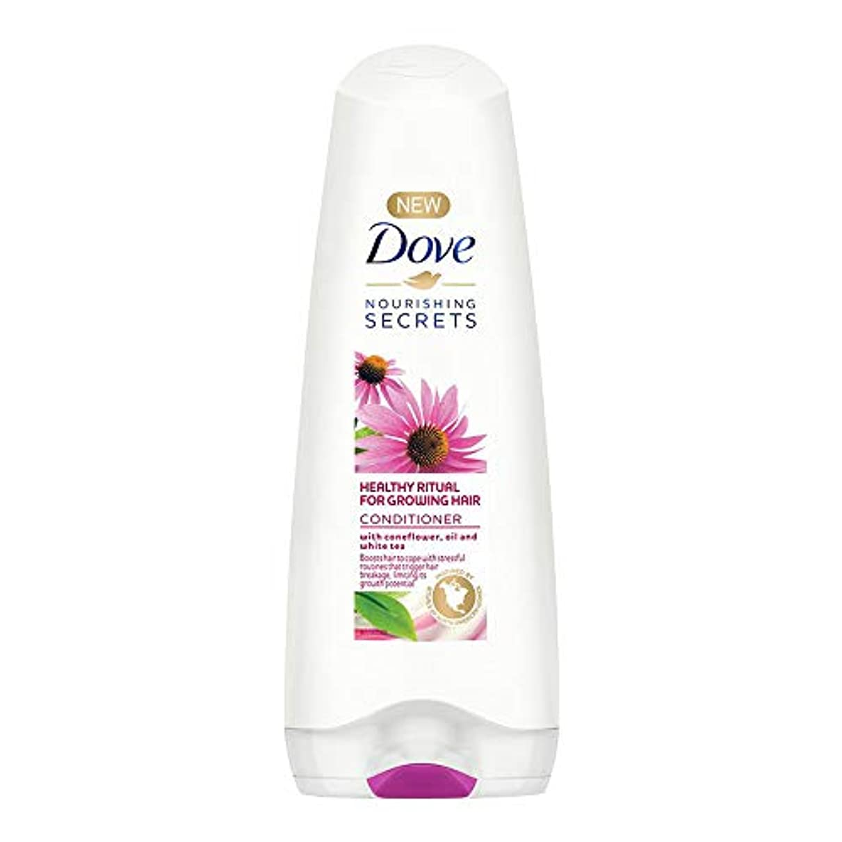 こねる桃意味Dove Healthy Ritual for Growing Hair Conditioner, 180 ml (Coneflower, Oil and White Tea)