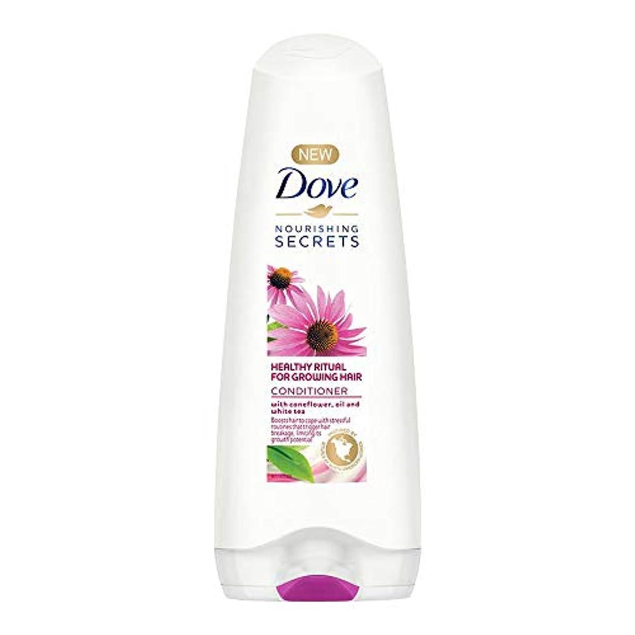 強度投げる遅いDove Healthy Ritual for Growing Hair Conditioner, 180 ml (Coneflower, Oil and White Tea)