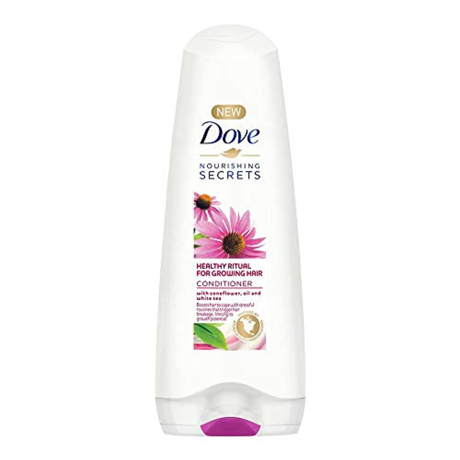 ループ一連鎖Dove Healthy Ritual for Growing Hair Conditioner, 180 ml (Coneflower, Oil and White Tea)
