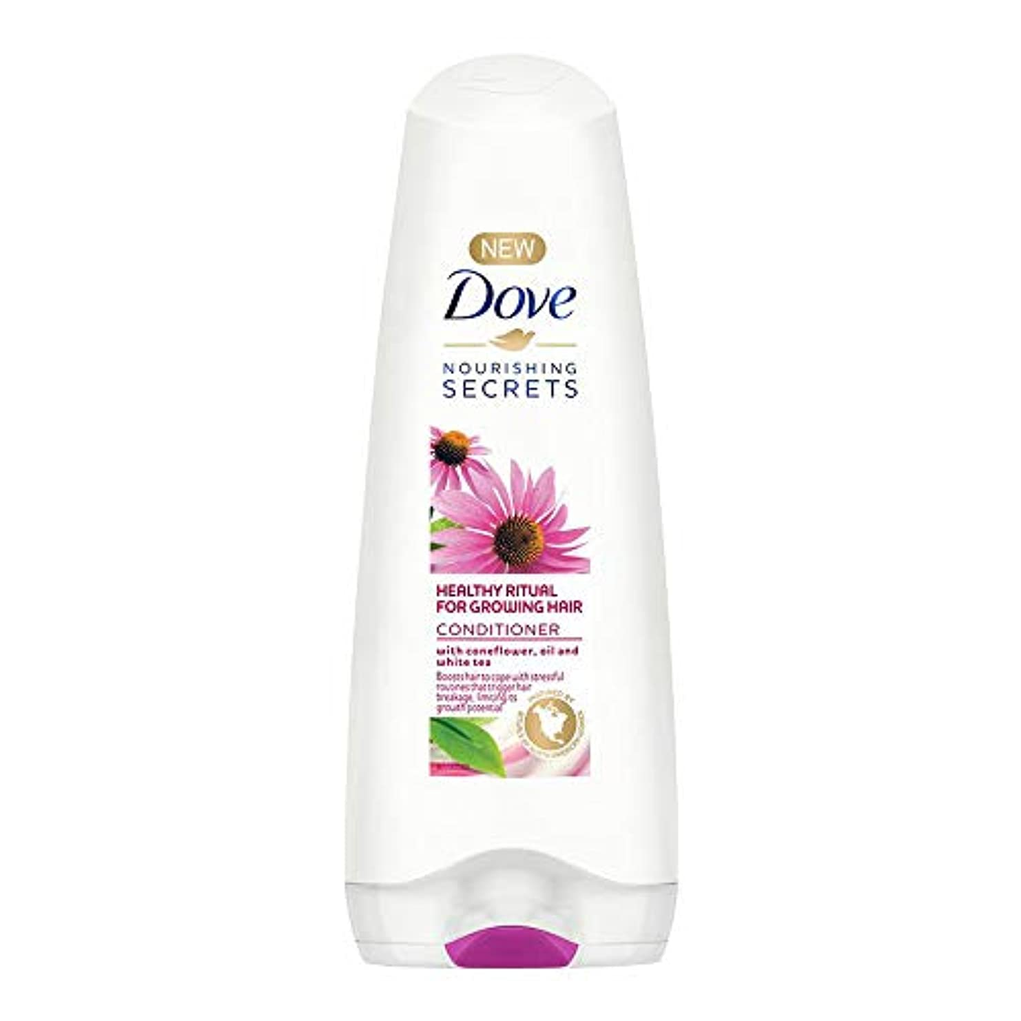 認知たるみ差し引くDove Healthy Ritual for Growing Hair Conditioner, 180 ml (Coneflower, Oil and White Tea)