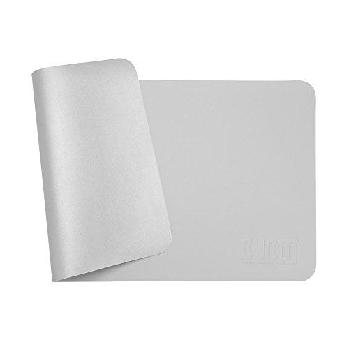 大型 オフィスデスクパッド パソコンデスクパッド マウスパッド デスクマット レザー 調デスクマット 多機能 防水性、耐油性、長寿命 デュアルユースデザイン&カラーマッチングデザイン 滑らかな手触り 携帯便利 両面使用可能 (60cm*30cm, グレー+シルバー)