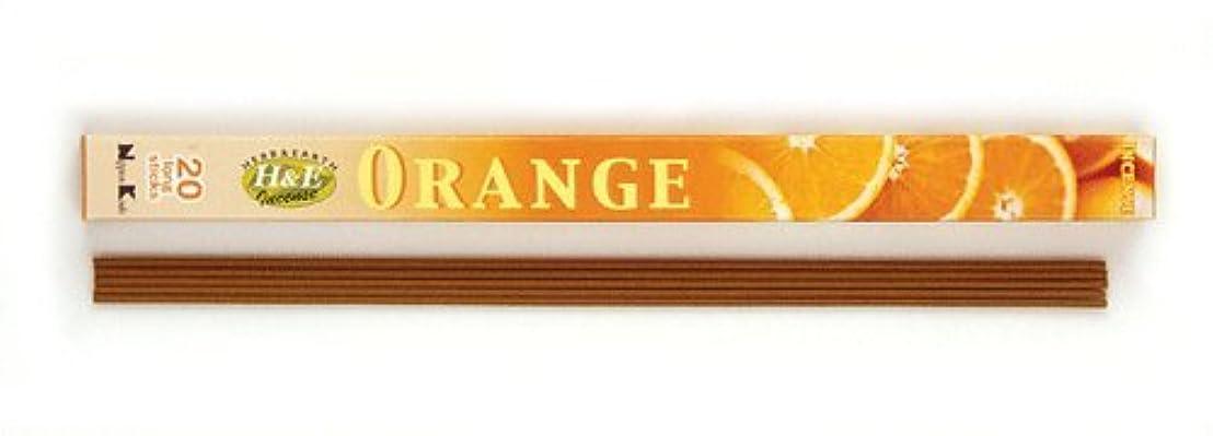 薬局ズーム買うHERB&EARTH Incense ORANGE オレンジ スティック 【お香】