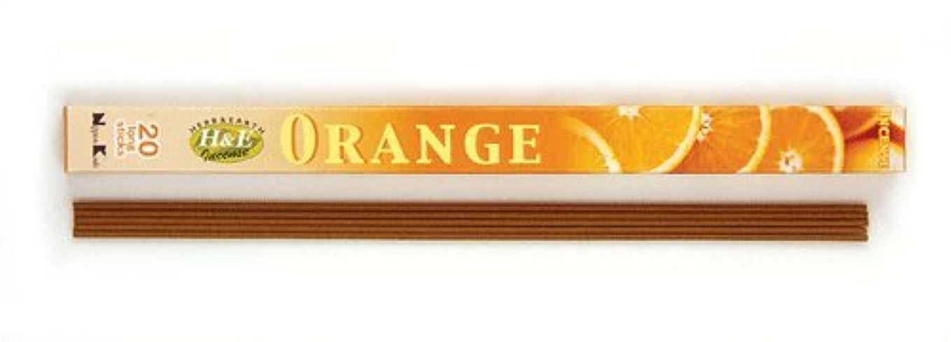 行政あえぎコードレスHERB&EARTH Incense ORANGE オレンジ スティック 【お香】
