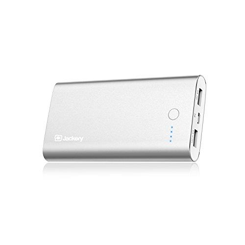 Jackery Zen プレミアム 10000mAh モバイルバッテリー 2USBポート大容量かつコンパクト 急速充電可能 パワーバンク (シルバー)