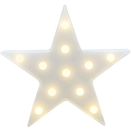 LED ベッドサイトランプ イルミネーションライト ホームイベント インテリア ギフト (ホワイトスター)