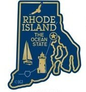 Rhode Island the Ocean State Map Fridge Magnet by Saddle Mountain Souvenir