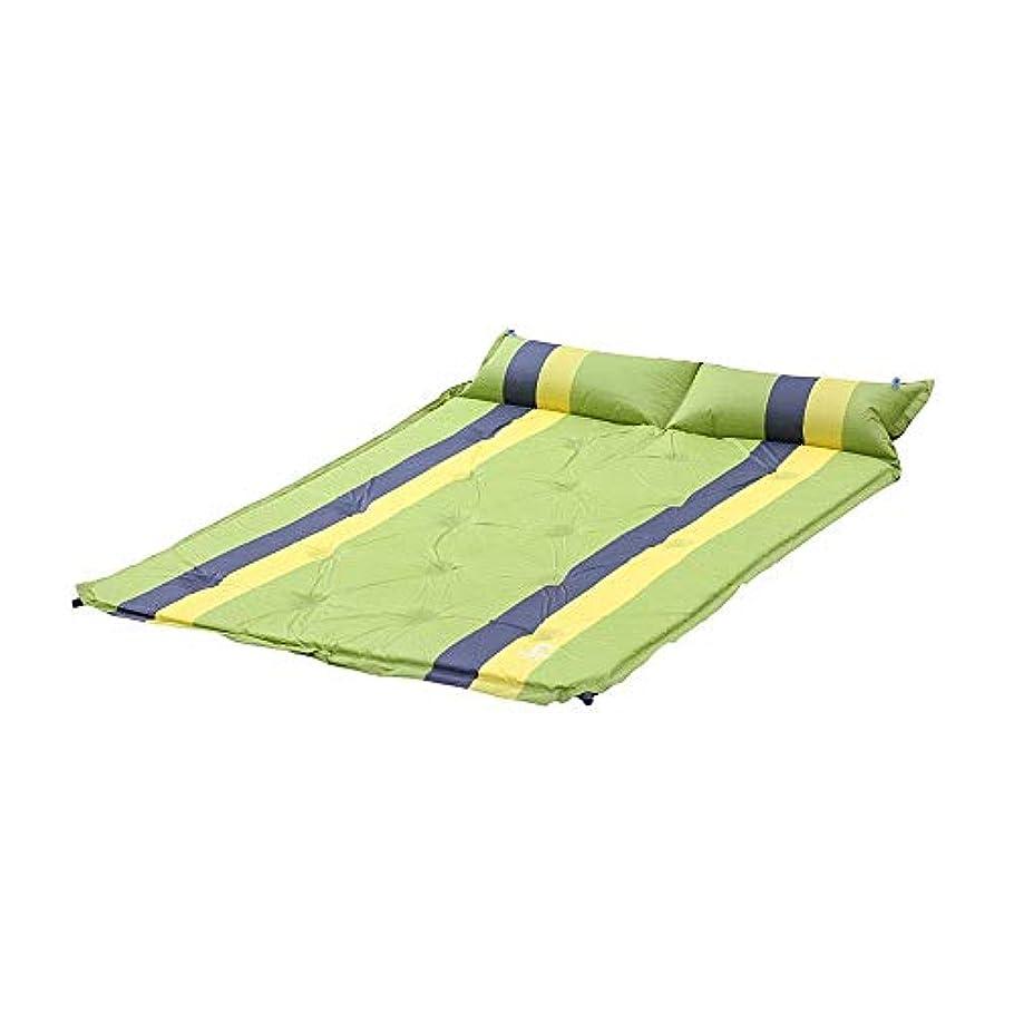 下着元に戻す正直ZAQXSW 自動インフレータブルクッションは3 cm厚キャンプテントクッション屋外マットを広げスプライスすることができます (Color : Green)