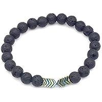 Sprint4deals Natural Lava Stone Bead Bracelet, Lava Stone Oil Diffuser Beads Arrow Bracelet for Women Men