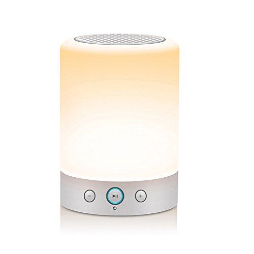 MIMIU Bluetooth スピーカー スタイリッシュデザイン 【迫力ある低音 / モバイルバッテリー機能搭載 / ベッドサイドランプ / micro SDカード 】