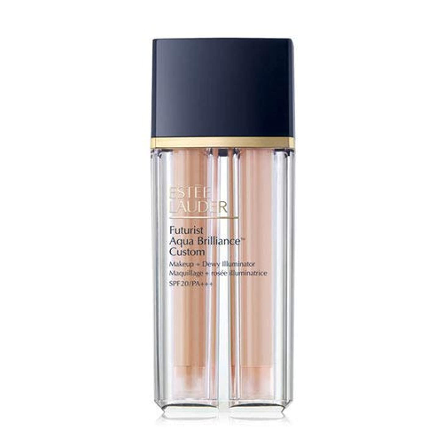 ラショナル自慢アフリカEstee Lauder(エスティローダー) Futurist Aqua Brilliance Custom Foundation & Illuminator Duo SPF20/PA+++ 15ml ×2EA #2CO...
