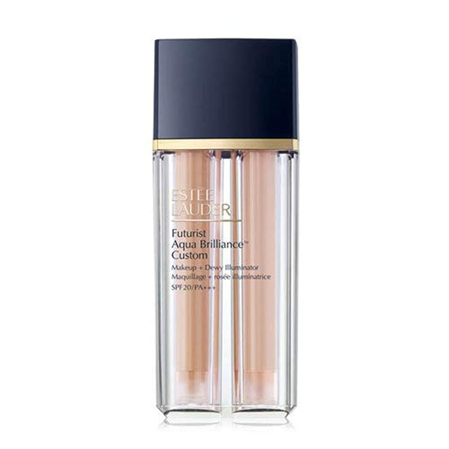 乱用シードつらいEstee Lauder(エスティローダー) Futurist Aqua Brilliance Custom Foundation & Illuminator Duo SPF20/PA+++ 15ml ×2EA #2CO...