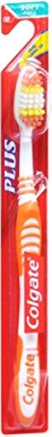 自動的に構築する粘性のColgate プラス歯ブラシソフト全1各(7パック)