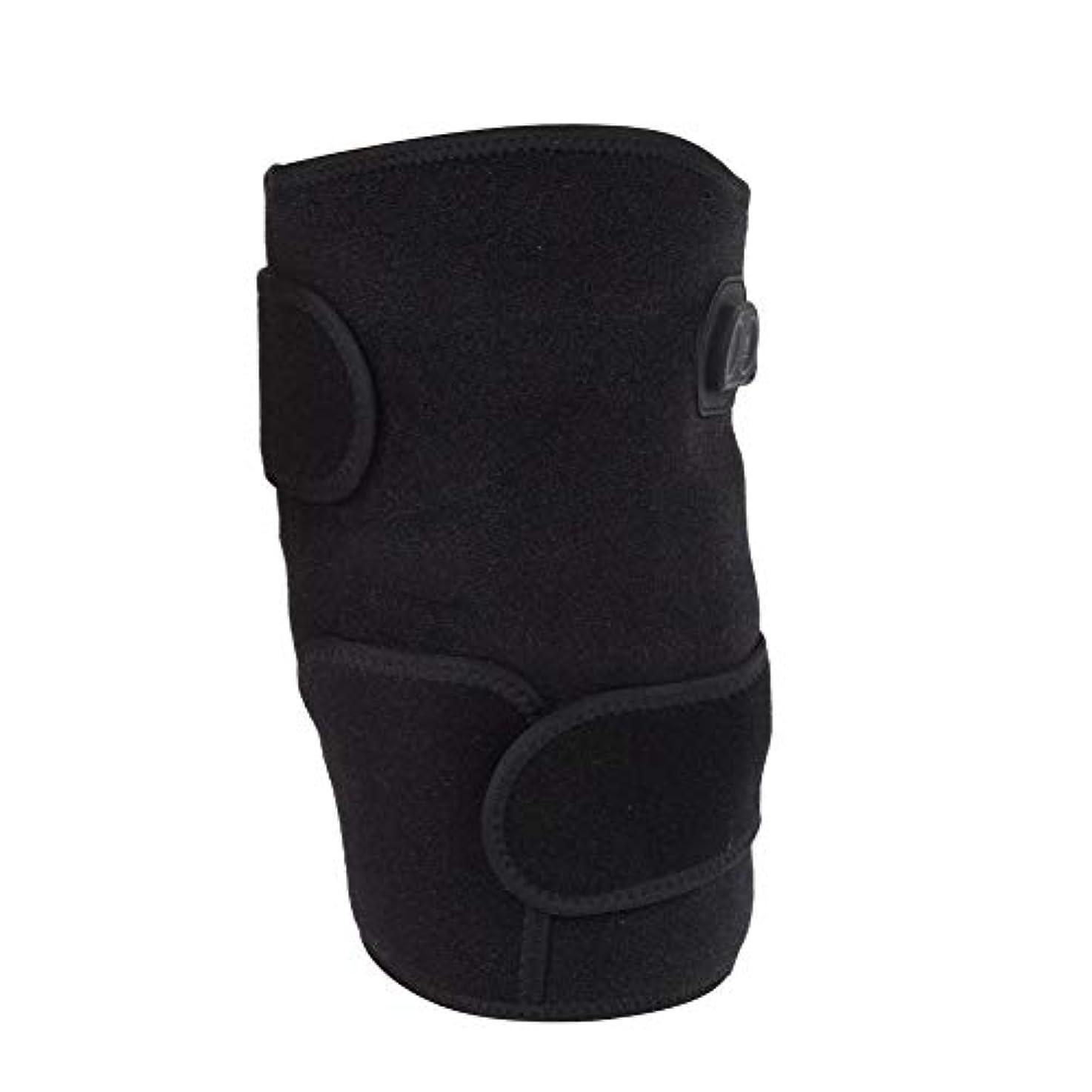 自動ハイジャック誘惑加熱膝パッド、電熱膝ブレース加熱保温のための柔軟な機動性を備えた鎮痛膝サポートコンプレッサー