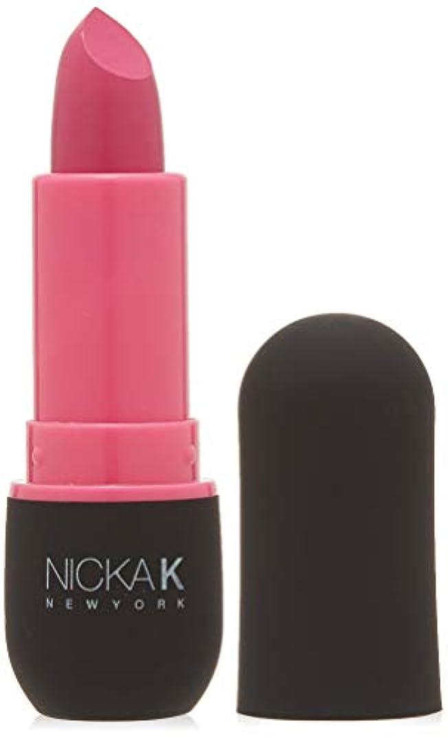 マルクス主義者歩道南方のNICKA K Vivid Matte Lipstick - NMS06 Hot Pink (並行輸入品)