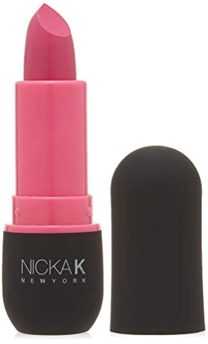 古くなった修理工翻訳するNICKA K Vivid Matte Lipstick - NMS06 Hot Pink (並行輸入品)