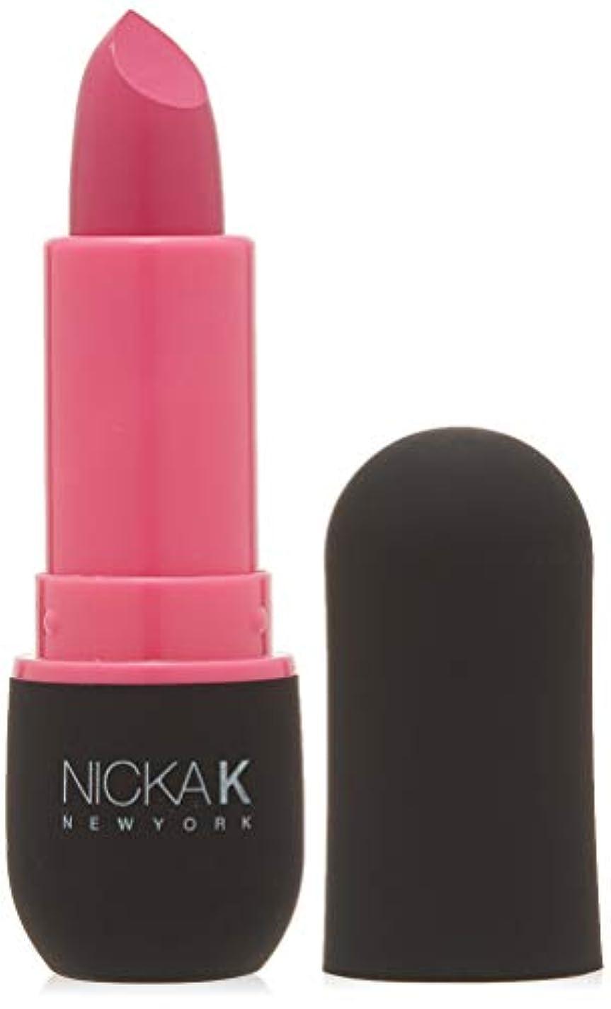 溶けたブレース到着NICKA K Vivid Matte Lipstick - NMS06 Hot Pink (並行輸入品)