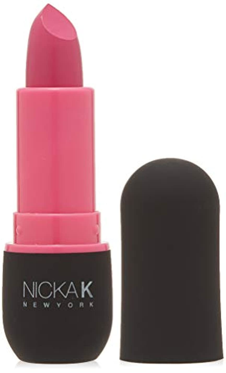 確立小人登山家NICKA K Vivid Matte Lipstick - NMS06 Hot Pink (並行輸入品)