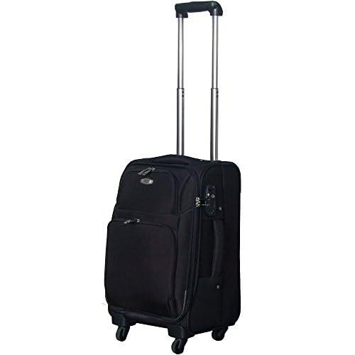 TSAロック搭載 ソフトキャリーケース スーツケース ヒノモトキャスター装備 Accord2トローリー・S (ブラック)