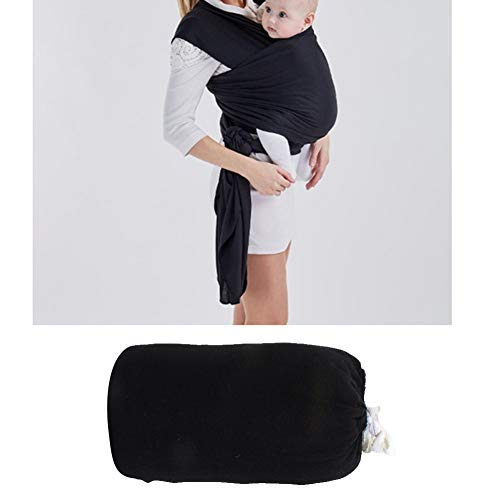 Baby Carrier Portable Baby Wrap Carrier Outdoor Breathable Backpack Front and Back for Infants Toddlers Black