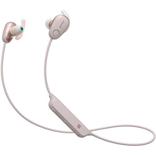 ソニー SONY ワイヤレスノイズキャンセリングイヤホン WI-SP600N PM : Bluetooth対応 NFC接続対応 防滴仕様 2018年モデル ピンク