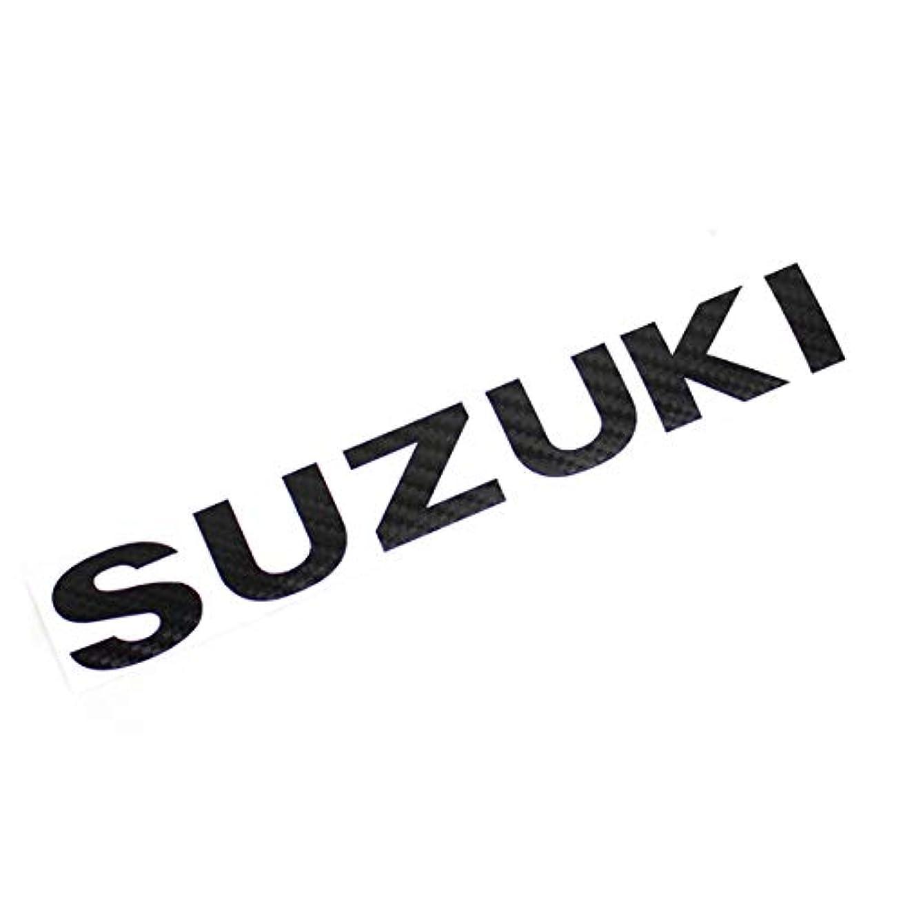 機械的ウナギデモンストレーションジムニー JB23 JB64カーボンシート バックドア エンブレム ロゴ「SUZUKI」