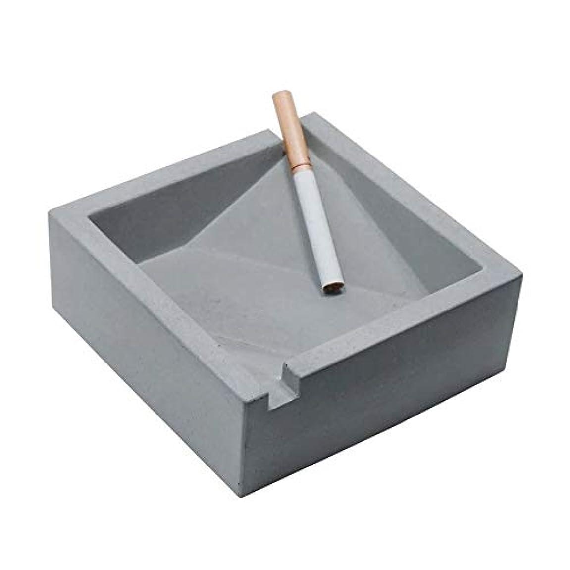 シーンやさしくヘアヴィンテージリビングルームオフィスコーヒーテーブル装飾灰皿、セメント灰皿工業用風スクエアコンクリートシガレット灰皿、品質保証