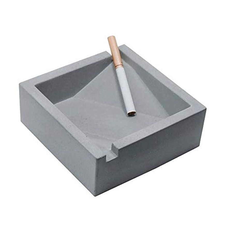 マイクロプロセッサ計算するリップヴィンテージリビングルームオフィスコーヒーテーブル装飾灰皿、セメント灰皿工業用風スクエアコンクリートシガレット灰皿、品質保証