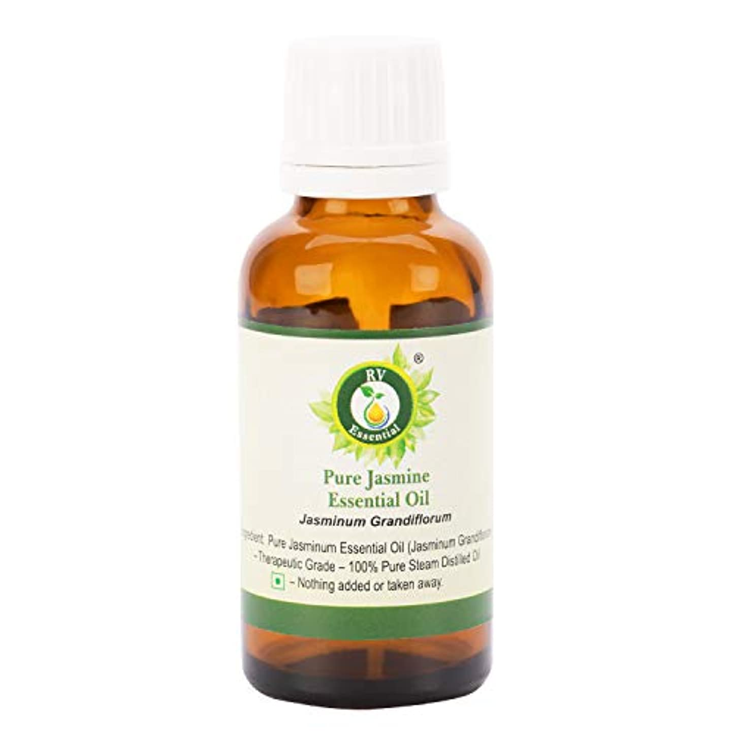 擬人ポーズ時間とともにピュアジャスミンエッセンシャルオイル100ml (3.38oz)- Jasminum Grandiflorum (100%純粋&天然スチームDistilled) Pure Jasmine Essential Oil